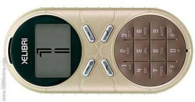 Vemos un pequeño celular con pantalla retro monocromatica
