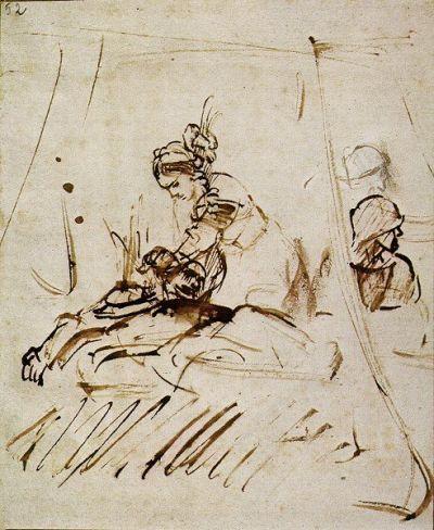 Dos hombres luchan y la esposa de uno de ellos trata de  defenderlo  hiriendo a su atacante