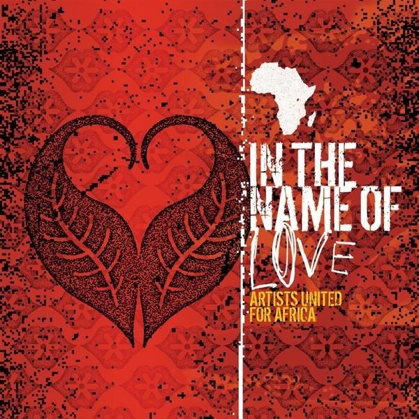 Un corazón hecho con las puntas de dos hojas en fondo rojo se lee unidos por Africa
