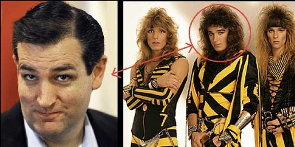Vemos un hombre joven con apariencia conservadora y al lado tres jóvenes  con ropa extravagante en colores amarilla y negra  y un circulo en la cara del de la mitad y una flecha que llega al hombre de traje