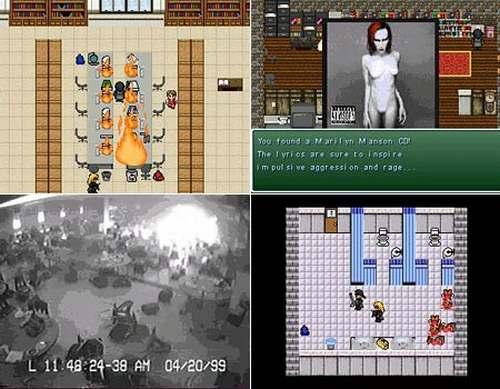 vemos unvideo juego donde una persona atenta contra varias mas en un establecimiento escolar