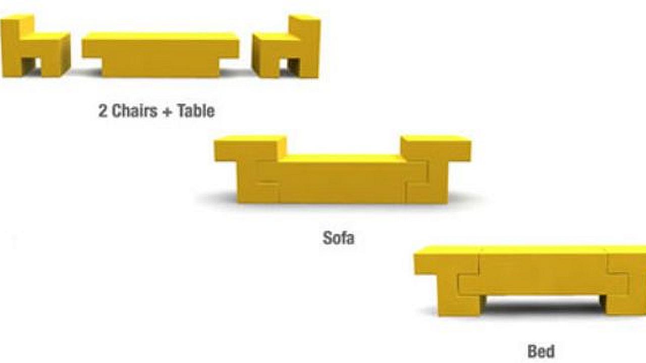 Ahorre espacio con los muebles inspirados en Tetris