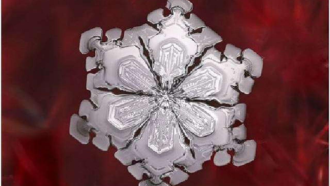 Cada copo de nieve es único y no existen dos iguales