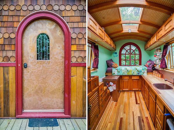 Una cocina, un dormitorio, para ser una casa pequeña se ve con buen espacio