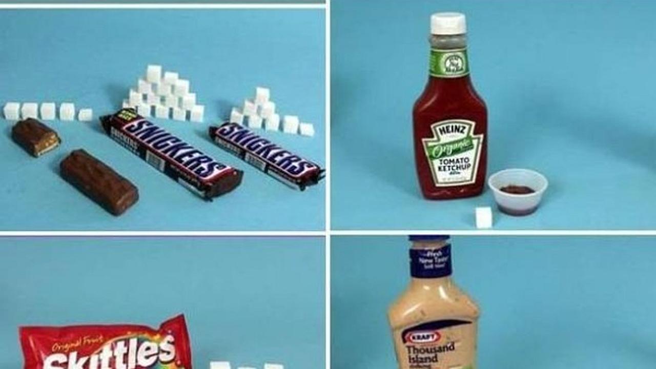 ¿Cuantos cubitos de azúcar tienen las comidas más populares?