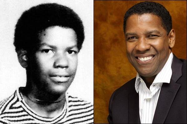 Tenemos aquí  un hombre muy joven afro sonriente y al lado el mismo hombre  años después que sonríe nuevamente