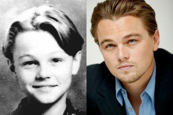 Tenemos aqui a un joven con cara muy tierna y asu lado vemos a el  mismo con el paso del tiempo en un hombre con un rostro mas serio y seguro de si mismo