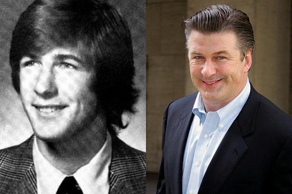 Vemos aun lado a un hombre  joven con traje completo el mismo años despues con mas años pero con cara sonriente