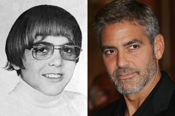 Vemos aun joven con rostro muy amable y luciendo gafas años después el  mismo    con traje y lleva barba y sonríe amablemente