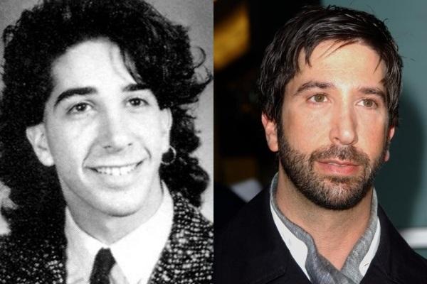 Miramos aqui la imagen de un hombre con pelo ondulado  y un arete y con e l tiempo el mismo con pelo corto y algo barbado de