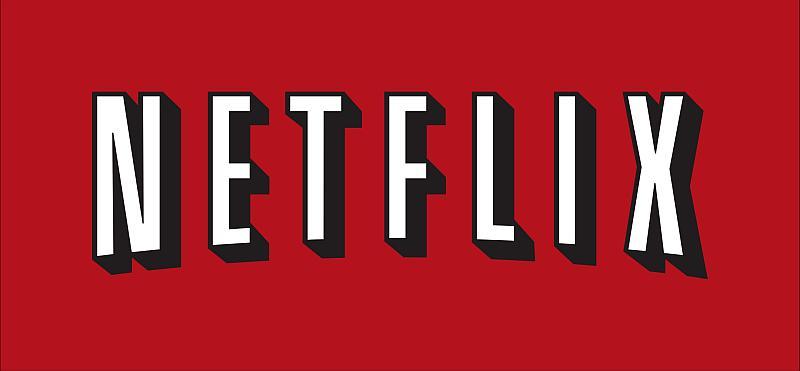 Vemos un fondo en colorvino y la palabra en letras blancas Netflix