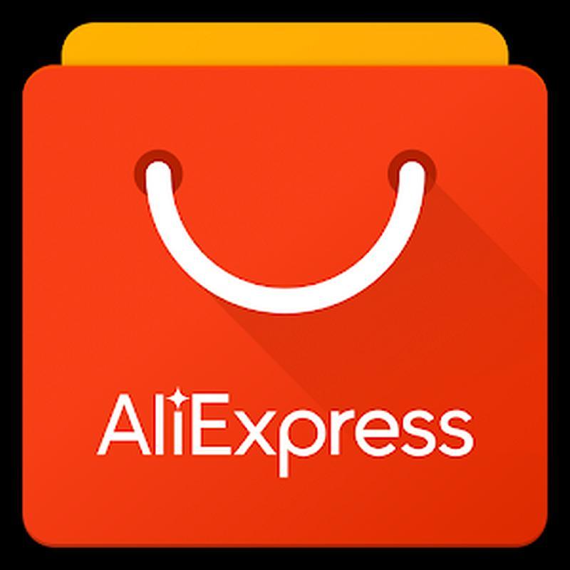Vemos una elegante bolsa de  color naranja  y donde vemosla palbra AlixExpress en color blanco