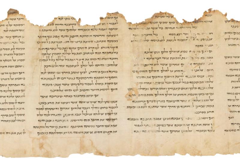 Medio pergamino con escritos