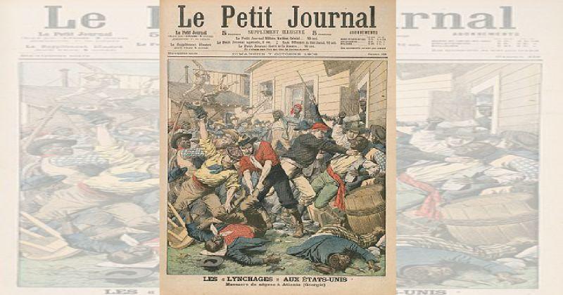 Varias personas tiradas en el piso y otras peleandose