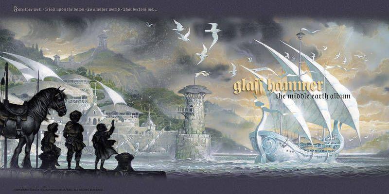 Tres jovencitos se despiden un barco vikingo y unas aves volando se ven unas casas