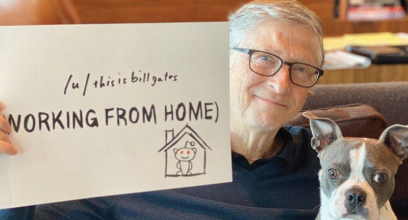 Foto de Gates con un texto al lado