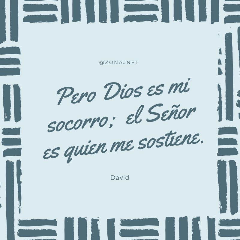 Vemos varios pequeños trazos en gris horizontales y verticales y dentro un mensaje del rey David