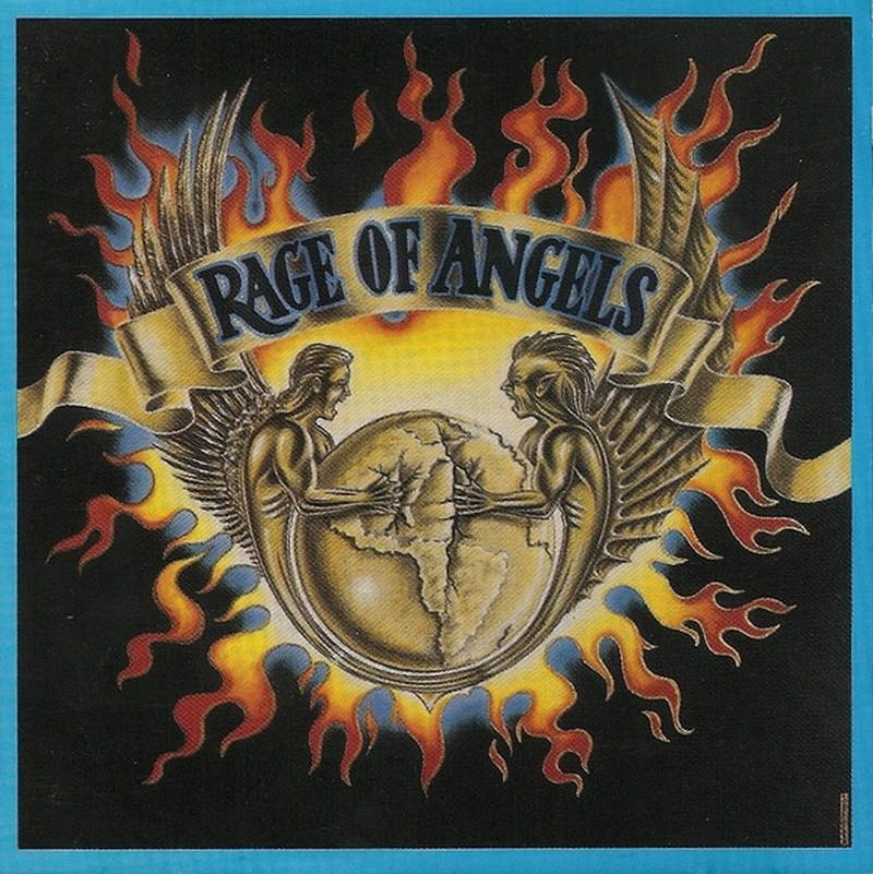 La carátula de un álbum en la cual hay 2 ángeles gritando rodeados de fuego