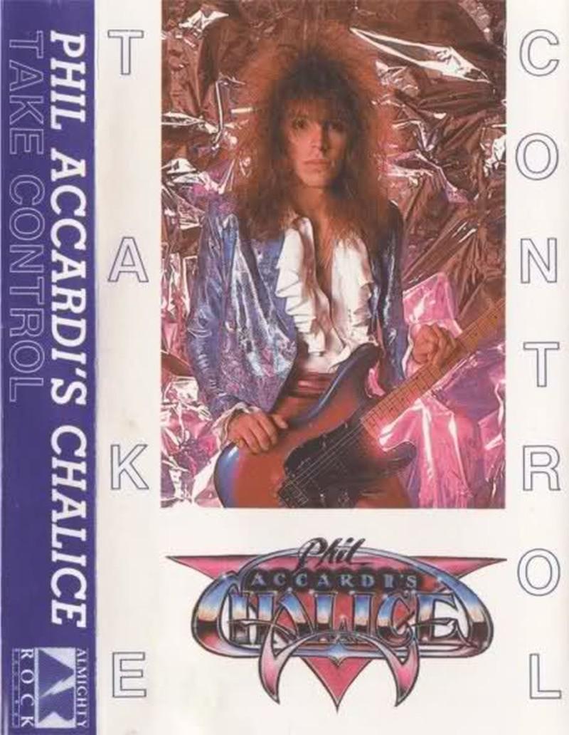 Un rockero ochentero posando con su guitarra en la carátula de un álbum musical