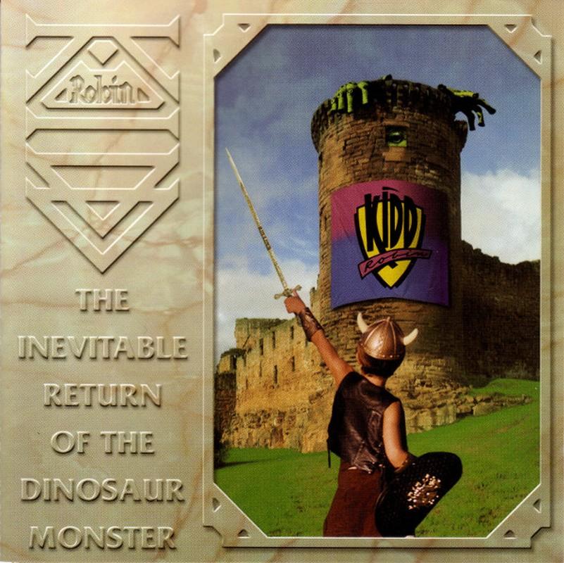 Un guerrero medieval blande su espada frente a la torre de un castillo