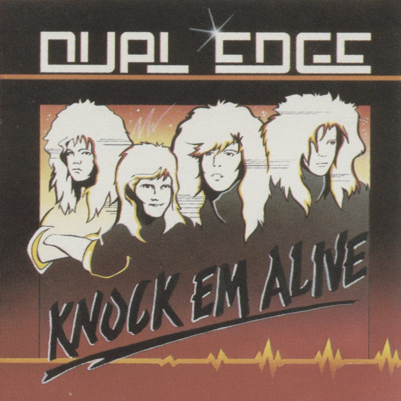 Un grupo de rock hecho en caricatura sobre la carátula de un álbum musical