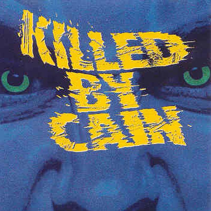 Una carátula en azul con unas letras que dicen killed by cain
