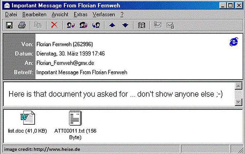 Un virus mortifero  se propago por correo electronico aqui se muestra algo