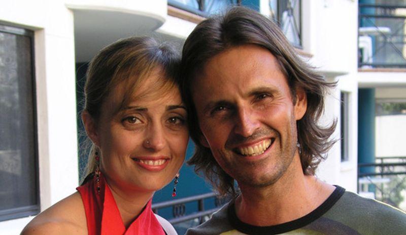 Foto de Allan John Miller y su compañera