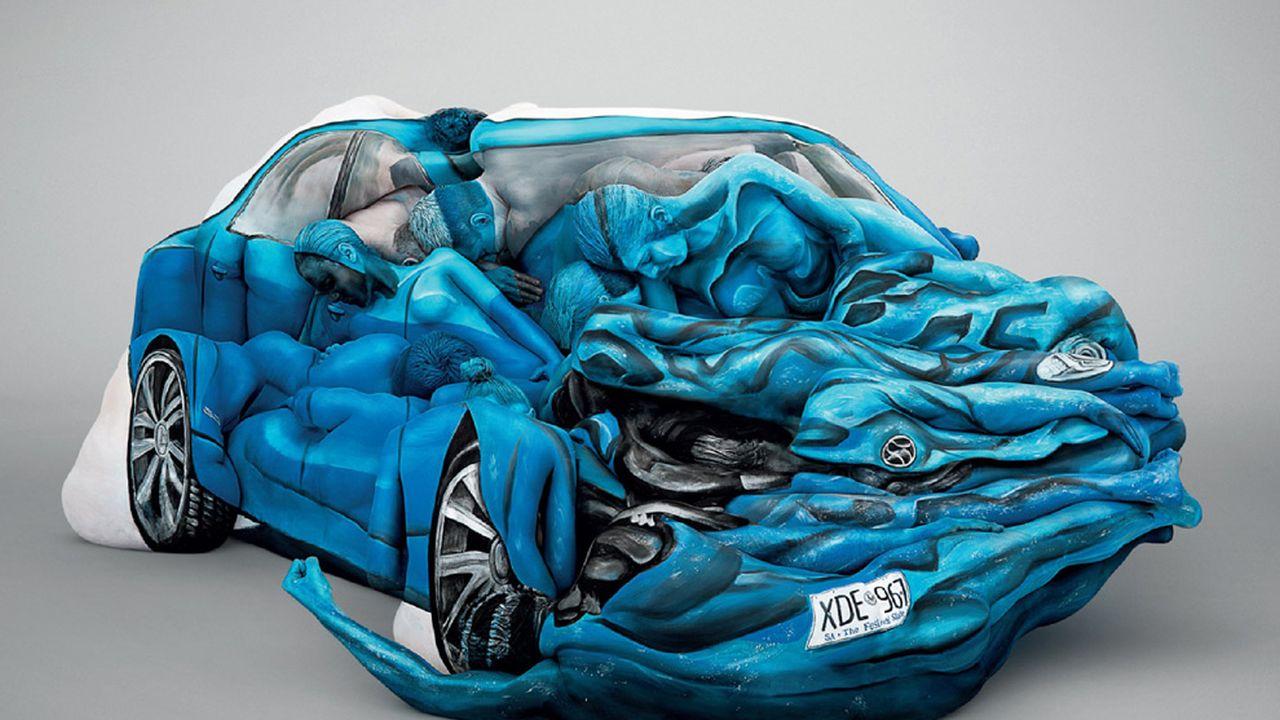 4 Cuerpos Humanos Convertidos en Obras de Arte