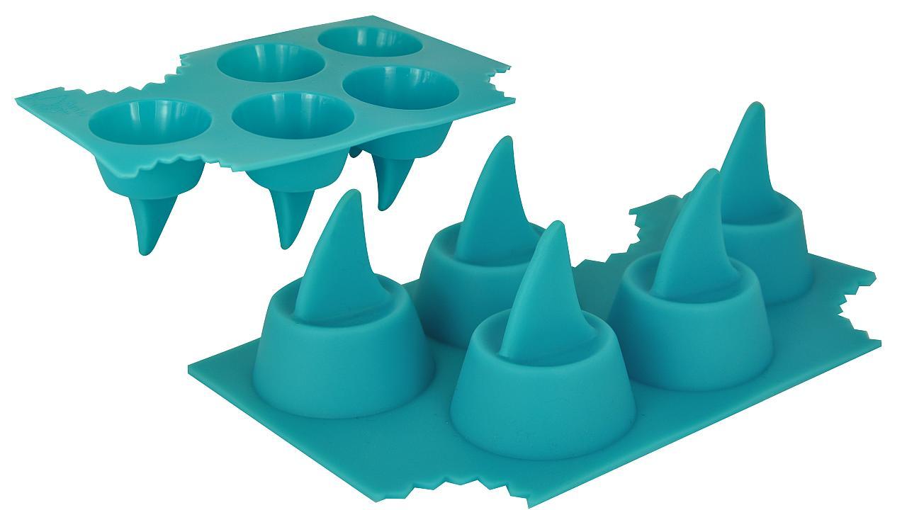 Molde para cubos de hielo en forma de tiburón
