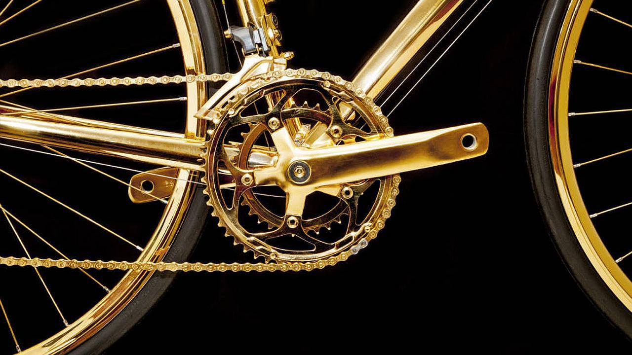 ¿Te gustaria tener una bicicleta de oro?
