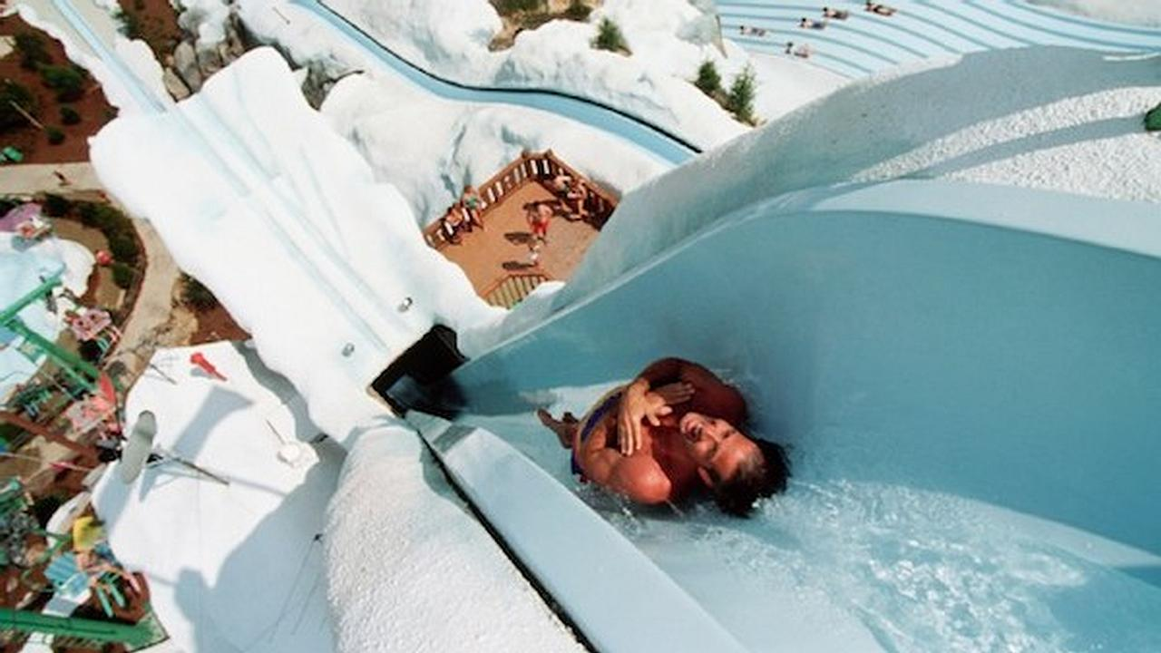 The world's tallest water slides