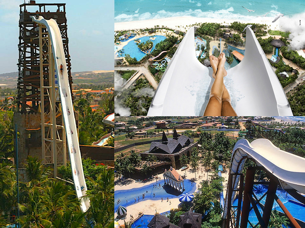 The Worlds Tallest Water Slides -  Insano