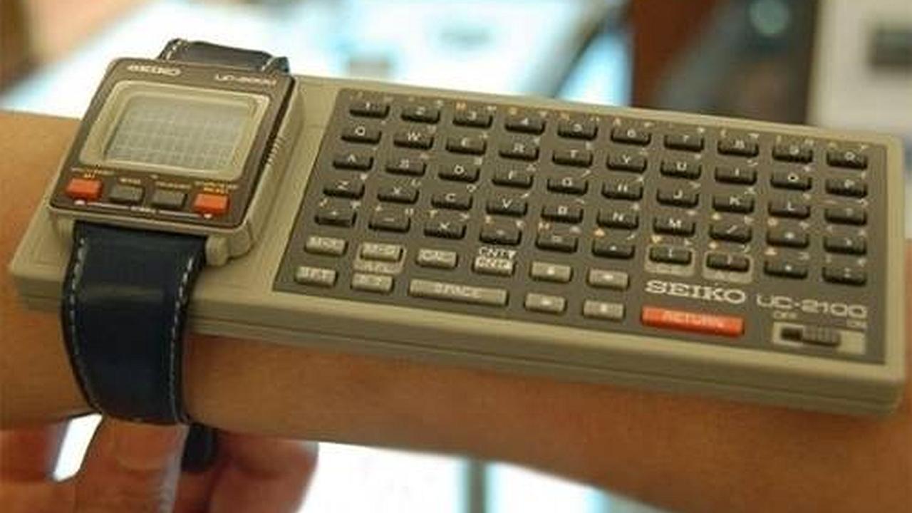 Una computadora de pulso gigante, la Seiko UC-2000