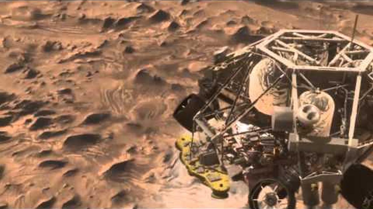 Video animacion de como será el aterrizaje del Curiosity en Marte